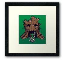 The Groot Deku Tree Framed Print