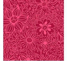 Seamless texture with flowers Photographic Print