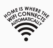 Home is where the WiFi connects automatically  by ampmade