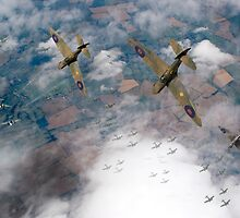 Spitfires swoop by Gary Eason + Flight Artworks