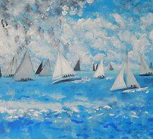 Sailing  to Port Lincoln. by Barbara Wogan-Provo