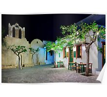 Have a seat in Folegandros Poster