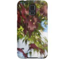 Abstract Impressions of Fall - Reds and Greens Samsung Galaxy Case/Skin