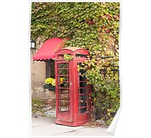 An old style telephone booth Poster