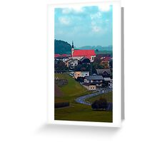 Village skyline on a cloudy day | landscape photography Greeting Card