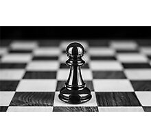 The black pawn solitaire  Photographic Print