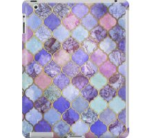 Royal Purple, Mauve & Indigo Decorative Moroccan Tile Pattern iPad Case/Skin