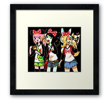 Girl Adventures Framed Print