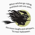 When Witches Are riding Tis Near Halloween by taiche