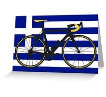 Bike Flag Greece (Big - Highlight) Greeting Card