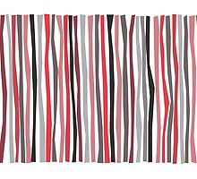 Red Black and Gray Pantone Color Sticks by Patricia Lintner