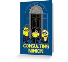Consulting Minion Greeting Card