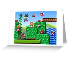 Super Mario 2 Greeting Card