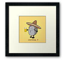 cerveza? Framed Print