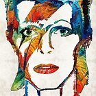David Bowie Art Tribute by Sharon Cummings by Sharon Cummings