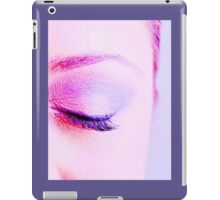 Eye of an attractive young woman closed iPad Case/Skin
