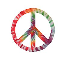 Peaceful Hippy Photographic Print