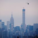 Copter over New York City  by Alberto  DeJesus