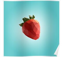 Polygon Strawberry Poster