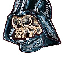 Darth Vader with the head of the skull by Koalka