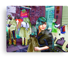 She Is Looking For Him In Juliets Yard Canvas Print