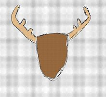 Moose Deer Head Print by duckpie
