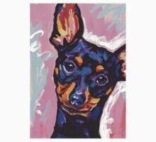 Miniature Pinscher Dog Bright colorful pop dog art T-Shirt
