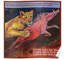 She brings home the bacon (Lion) Poster