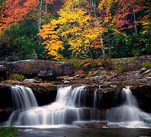 Fall Foliage and Waterfalls by KellyHeaton