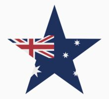 Australia flag star by Designzz