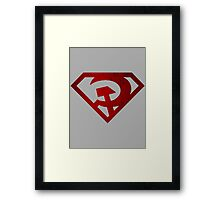 Superman hammer and sickle Framed Print
