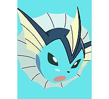 game faces: vaporeon (battle XL) Photographic Print