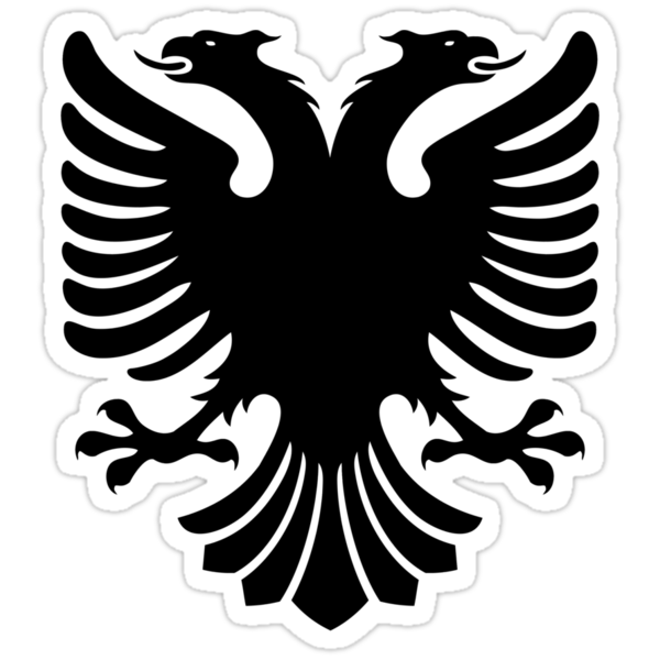 Albanian Eagle / Flag by Adam Roper