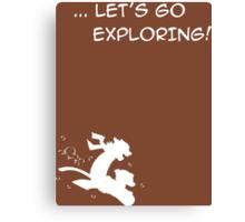 let's go exploring (white) Canvas Print