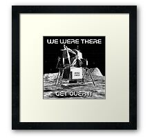 Moon Landing Design Framed Print