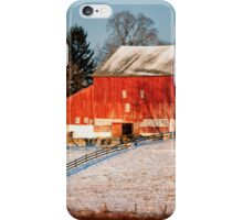 Country House and Barn in Winter iPhone Case/Skin