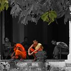 Monks at rest by indiafrank
