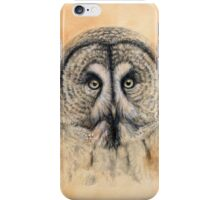 Great Grey Owl G041 by schukina iPhone Case/Skin