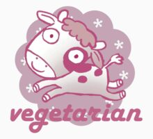 pink vegetarian cow Kids Clothes