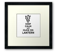 Thresh - League of Legends - Keep Calm and Click On Lantern - Black Framed Print