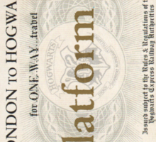 ticket to hogwarts Sticker