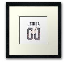 Uchiha Jersey #00 Framed Print