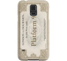 ticket to hogwarts Samsung Galaxy Case/Skin