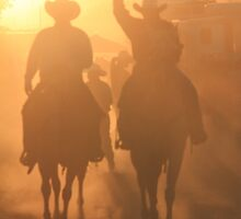 Cowboys Ride in at Sunst by Roupen  Baker