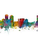 Wichita Kansas Skyline by Michael Tompsett