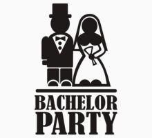 Bachelor Party wedding couple by Designzz