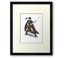 Minimalist Ike from Super Smash Bros. Brawl Framed Print