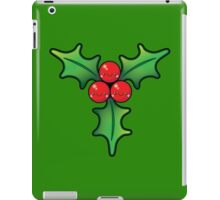 Cute Kawaii Christmas Holly Bunch iPad Case/Skin
