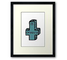 ofwgkta cross Framed Print
