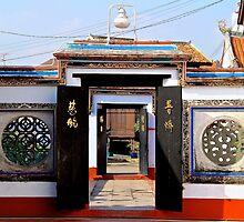 The Temple Doors - Melaka, Malaysia. by Tiffany Lenoir